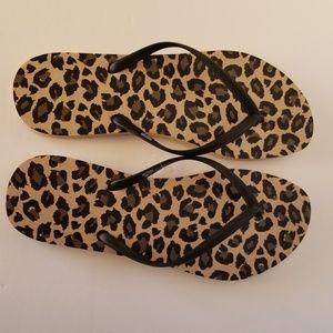 Mossimo Flip Flops Leopard Print Women's S10/11